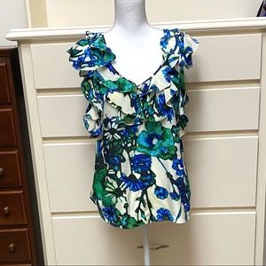 Rebecca Taylor floral sleeveless blouse size 4